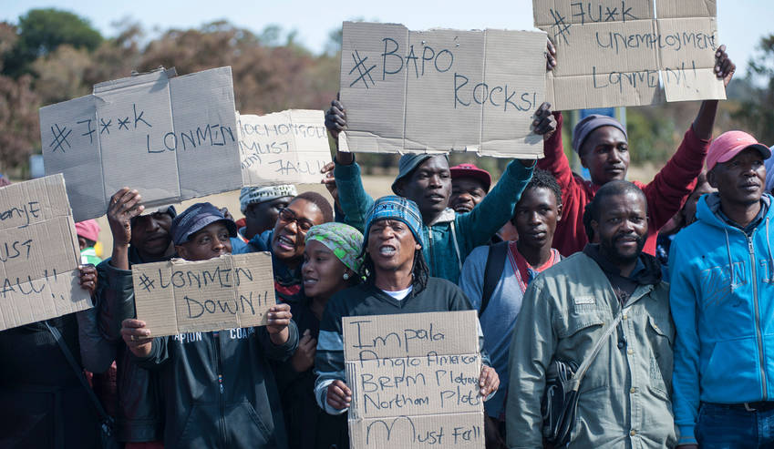 South Africa miners over 20000 jobs on the line